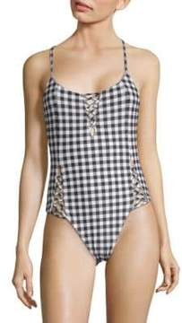 6 Shore Road One-Piece Gingham Swimsuit
