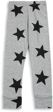 Nununu Baby Girl's and Little Girl's Star Cotton Leggings - Heather Grey, Size 0-6 mo