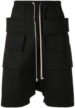 Rick Owens drop-crotch cargo shorts