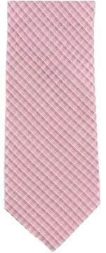 Michael Kors Asphalt Plaid Necktie Pink One Size