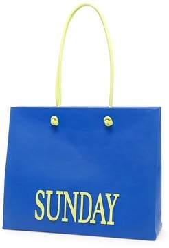 Alberta Ferretti Leather Sunday Shopping Bag