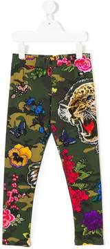 Philipp Plein Junior camouflage printed leggings