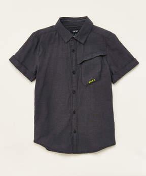 DKNY Black Wash Mission Button-Up - Boys