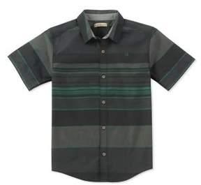 Calvin Klein Jeans Boy's Horizontal Stripe Button-Down Shirt