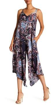 ECI Floral Wide Leg Cropped Jumpsuit