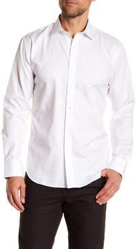 Bugatchi Checkerboard Sheen Shaped Fit Shirt