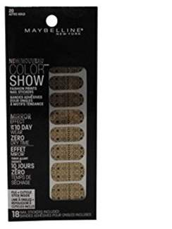 Maybelline Color Show Prints Mirror Effect Nail Stickers 20, Aztec Gold.