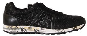 Premiata Women's Black Leather Sneakers.
