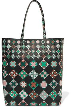 Emilio Pucci Printed Leather Shoulder Bag