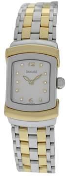 Damiani Ego Diamond Stainless Steel & 18K Yellow Gold Plated Quartz 19mm Womens Watch