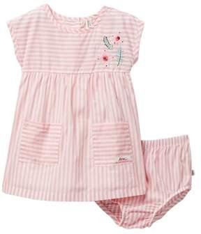ED Ellen Degeneres Stripe Dress & Bloomer Set (Baby Girls)