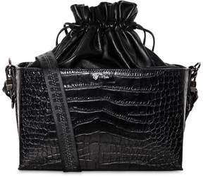 Off-White Croc Embossed Leather Soft Boxy Bag
