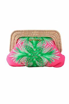Lilly Pulitzer Pink and Green Clutch