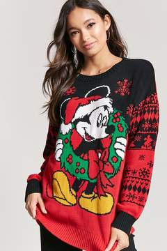Forever 21 Mickey Mouse Holiday Sweater