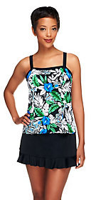 Fit 4 U D's and E's Oasis Bandeau Skirtini with Ruffle
