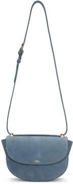 A.P.C. Blue Suede Geneve Bag