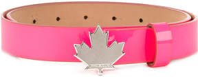 DSQUARED2 Maple leaf buckle belt