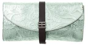 Reece Hudson Floral Embossed Leather Clutch