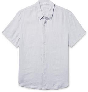 James Perse Slim-Fit Slub Linen Shirt