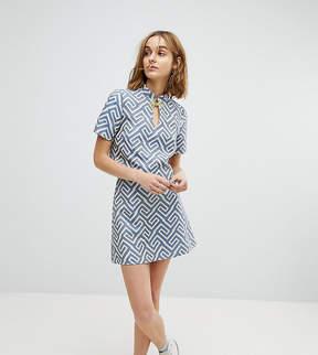 Reclaimed Vintage Inspired Mini Skirt In Geo Jacquard