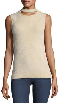 Elie Tahari Clovra Choker-Collar Sleeveless Sweater