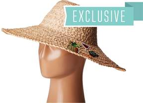 Hat Attack Thick Braid Sun Hat w/ Cactus & Fruit Patches
