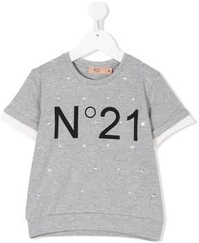No.21 Kids crystal embellished sweatshirt