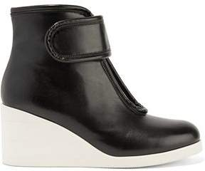 MM6 MAISON MARGIELA Cutout Leather Wedge Ankle Boots