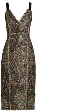 Erdem Elissa star-jacquard dress