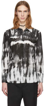 Ann Demeulemeester White and Black Alex Tie-Dye Shirt