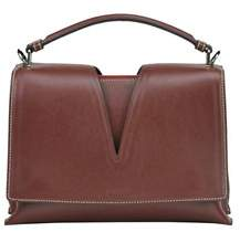 Jil Sander Women's Brown Leather Shoulder Bag.