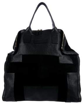 Alexander McQueen Leather & Suede Tote