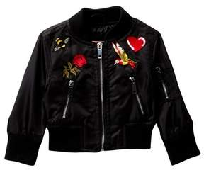 Urban Republic Taffeta Varsity Jacket (Baby Girls)