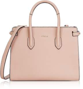Furla Moonstone Leather Pin Small E/W Tote Bag