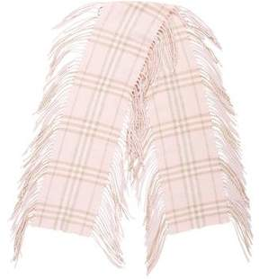 Burberry Check Fringe-Trimmed Scarf