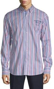Paul & Shark Striped Cotton Button-Down Shirt
