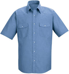 JCPenney Red Kap Short-Sleeve Deluxe Western Style Shirt