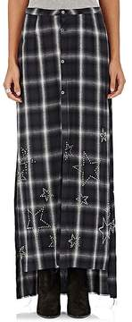 Amiri Women's Star-Studded Plaid Maxi Skirt