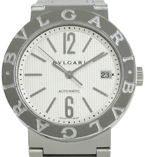 Bulgari Stainless Steel with White Dial Automatic 38mm Mens Watch