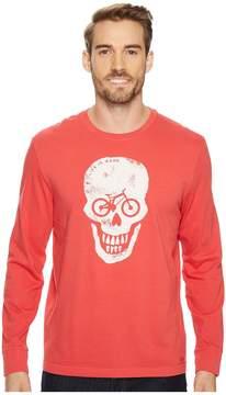 Life is Good Bike Skull Long Sleeve Crusher Tee Men's Long Sleeve Pullover