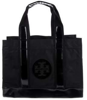 Tory Burch Leather-Trimmed Elle Tote