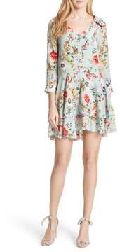 Alice + Olivia Moore Floral Silk Tunic Dress