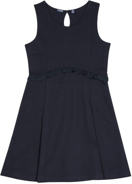 Chaps Girls 4-16 School Uniform Ruffled French Terry Jumper