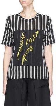 Aalto 'Paradise Lost' patch stripe T-shirt