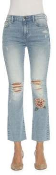 Driftwood Distressed Floral Roxy Jeans
