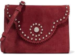 Sandro Aniss Studded Suede Shoulder Bag