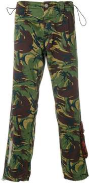 Off-White camouflage logo trousers