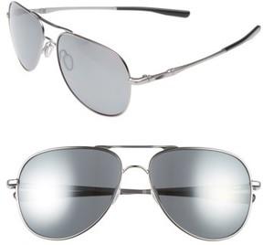 Oakley Men's Elmont 60Mm Polarized Aviator Sunglasses - Grey