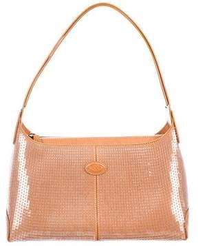 Tod's Leather Sequin Shoulder Bag