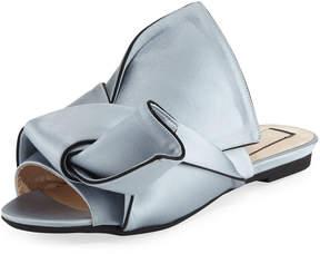 No.21 No. 21 Flat Satin Bow Slide Sandal